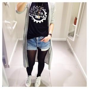 #ootd • gilet long #minimum - t-shirt de groupie #laibach…