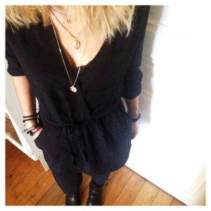 #ootd • robe #mango (fin de soldes) - collants #etam…