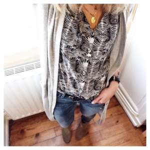 #ootd • gilet long #minimum_fashion - chemise #monoprix x #heimstone…