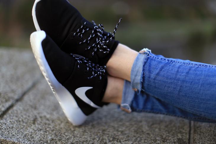 Nike Roshe Run Porté Pour Homme