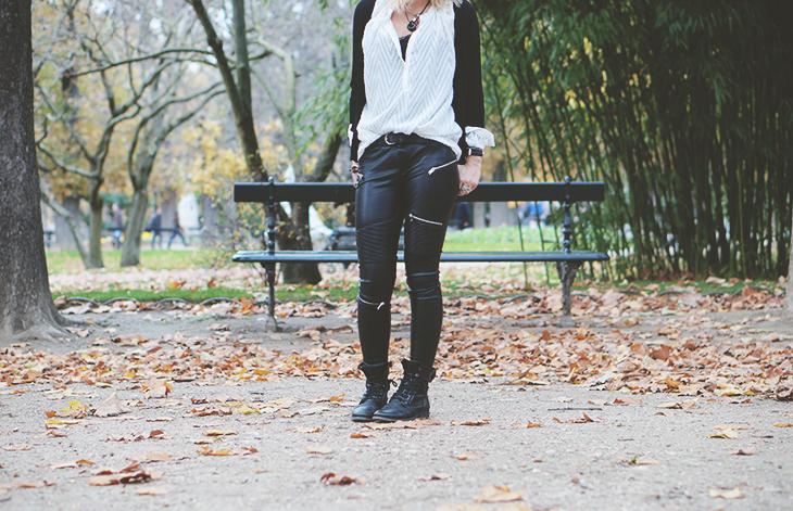 1_look_blog_mode_jardin_luxembourg_paris_gilet_kookai_pantalon_simili_cuir_zara